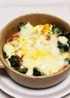 ほうれん草・茹で卵・ハム♪マヨチーズ焼き