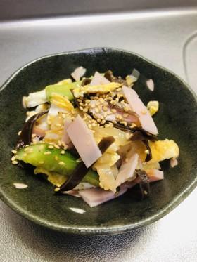 クラゲとキクラゲで叩き胡瓜の中華風酢の物