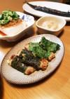 納豆と長いもの揚げ物