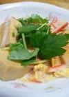 高野豆腐とかにかまの卵とじ