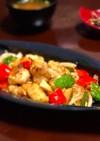 鶏もも肉と色野菜のカレーマヨ