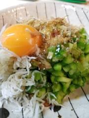 ネバネバで快腸❗サボテンたまごかけご飯の写真