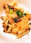 秋鮭と長芋としめじのポン酢バター炒め
