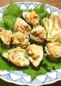 鰹のなまり節の梅マヨネーズ焼き