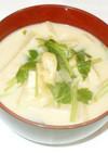 豆乳味噌汁♪簡単味噌汁の具は大根