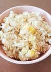 栗と塩昆布の炊き込みご飯