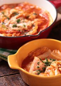 とろ~り♪白菜のトマトミルフィーユ鍋