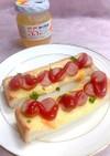 ママレードとマヨのソーセージトースト