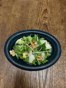梨とセロリと胡桃のサラダ