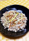 黄ニラと舞茸のピリ辛炒り豆腐