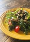 キノコと生野菜のペッパーマリネサラダ