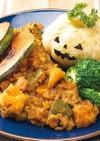 かぼちゃとひき肉のドライカレー風