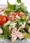サラダチキンで爆食ウマウマ簡単サラダ