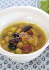 妊娠、授乳に!さつま芋と豆のカレースープ