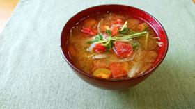 【使い切り】トマトの豆苗お味噌汁