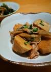 里芋 ゴボウ 豚バラの甘辛炒め煮