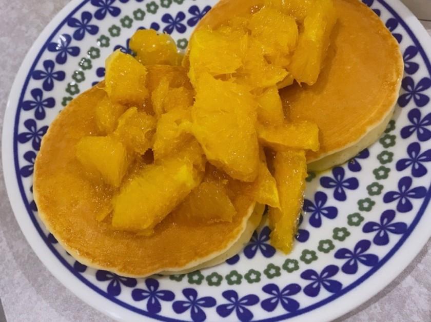クレープシュゼット風オレンジソース