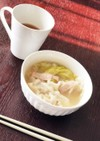 冷凍餃子で簡単スープ