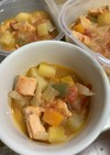 [離乳食後期〜]鮭と野菜のトマト煮