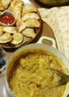 インドサモサと豆カレー
