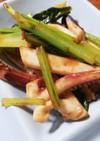 小松菜とイカのマヨ醤油炒め
