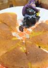 中学生と♡生クリーム入りかぼちゃケーキ