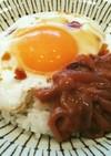 簡単♡朝食ランチに♪塩辛目玉焼きご飯♡