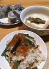 土鍋で鮭親子ご飯!
