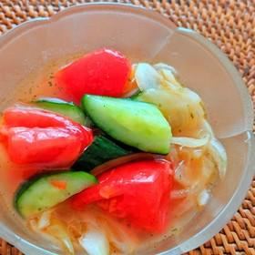トマトと胡瓜のマリネ