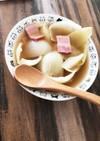 丸ごと玉ねぎの鶏がらスープ★