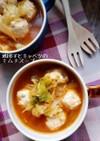 鶏団子とキャベツのおかずキムチスープ