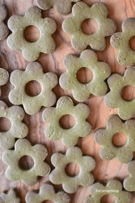 抹茶オイルクッキー
