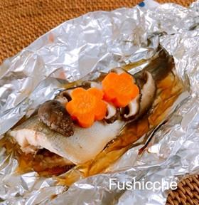 白身魚と椎茸のバター醤油♡ホイル蒸し