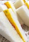 南瓜とブルーベリージャムのサンドイッチ