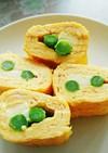 アスパラとチーズの卵焼き
