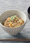 マクロビ*そぼろ飯風の玄米炊き込ご飯