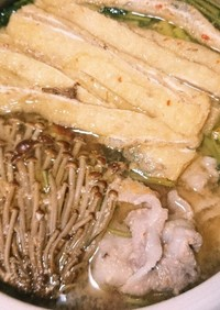 鳥味噌鍋出汁
