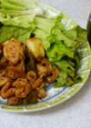 ✨豚の炒め物&タマネギと豆腐の味噌汁✨