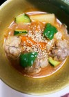 全てレンジ豚こま団子根菜肉味噌天津飯風煮