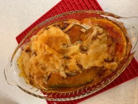 カボチャのミートタコスチーズ焼き