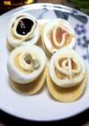 超簡単おつまみ!半熟ゆで卵のカナッペ風