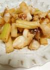 ★イカゲソとセロリの茎のマヨ炒め
