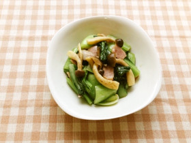 ベジ♪チンゲン菜のマヨ炒め