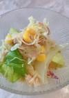 コンビニのカット野菜でツナサラダ