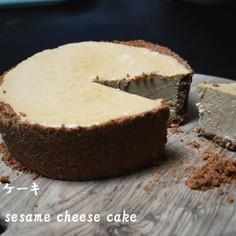vegan raw 胡麻チーズケーキ