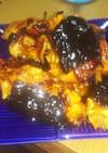 鶏ひき肉と人参、玉ねぎの磯辺焼き