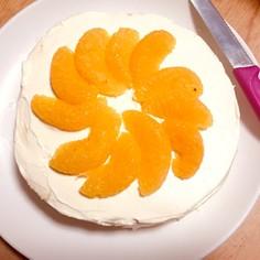 柿とポンカンの生クリームケーキ!