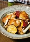 さつまいもと鶏肉の甘辛柚子胡椒焼き