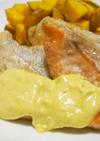 鮭のムニエル♪タルタルソースにカレー粉を