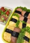ベビーハムと卵のお寿司弁当